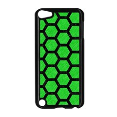 Hexagon2 Black Marble & Green Colored Pencil (r) Apple Ipod Touch 5 Case (black)