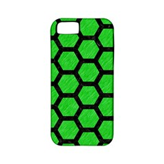 Hexagon2 Black Marble & Green Colored Pencil (r) Apple Iphone 5 Classic Hardshell Case (pc+silicone)