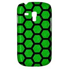 Hexagon2 Black Marble & Green Colored Pencil (r) Galaxy S3 Mini