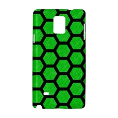 Hexagon2 Black Marble & Green Colored Pencil (r) Samsung Galaxy Note 4 Hardshell Case
