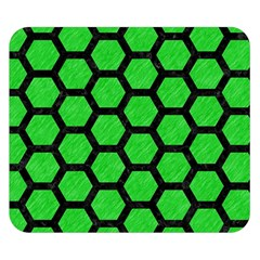Hexagon2 Black Marble & Green Colored Pencil (r) Double Sided Flano Blanket (small)