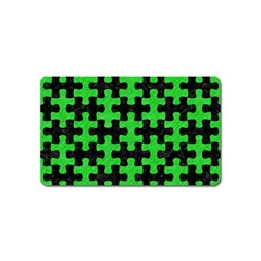 Puzzle1 Black Marble & Green Colored Pencil Magnet (name Card)