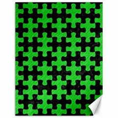 Puzzle1 Black Marble & Green Colored Pencil Canvas 12  X 16