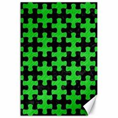 Puzzle1 Black Marble & Green Colored Pencil Canvas 20  X 30