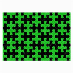 Puzzle1 Black Marble & Green Colored Pencil Large Glasses Cloth (2 Side)