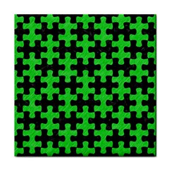 Puzzle1 Black Marble & Green Colored Pencil Face Towel