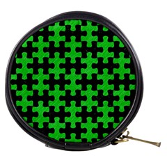 Puzzle1 Black Marble & Green Colored Pencil Mini Makeup Bags