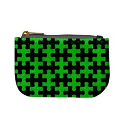 Puzzle1 Black Marble & Green Colored Pencil Mini Coin Purses