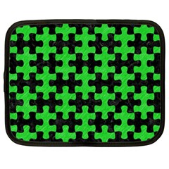 Puzzle1 Black Marble & Green Colored Pencil Netbook Case (xxl)