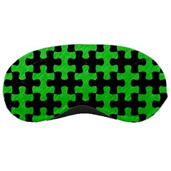 Puzzle1 Black Marble & Green Colored Pencil Sleeping Masks