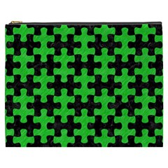 Puzzle1 Black Marble & Green Colored Pencil Cosmetic Bag (xxxl)