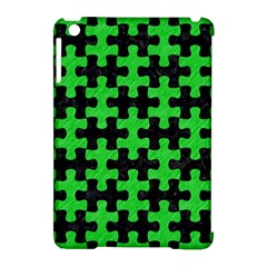 Puzzle1 Black Marble & Green Colored Pencil Apple Ipad Mini Hardshell Case (compatible With Smart Cover)