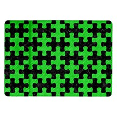 Puzzle1 Black Marble & Green Colored Pencil Samsung Galaxy Tab 10 1  P7500 Flip Case