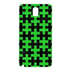 Puzzle1 Black Marble & Green Colored Pencil Samsung Galaxy Note 3 N9005 Hardshell Back Case