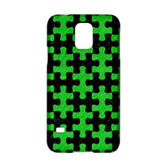 Puzzle1 Black Marble & Green Colored Pencil Samsung Galaxy S5 Hardshell Case
