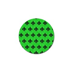Royal1 Black Marble & Green Colored Pencil Golf Ball Marker