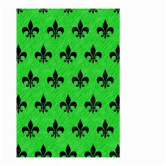 Royal1 Black Marble & Green Colored Pencil Small Garden Flag (two Sides)