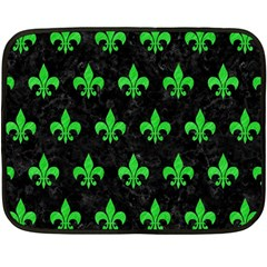 Royal1 Black Marble & Green Colored Pencil (r) Double Sided Fleece Blanket (mini)