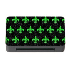 Royal1 Black Marble & Green Colored Pencil (r) Memory Card Reader With Cf