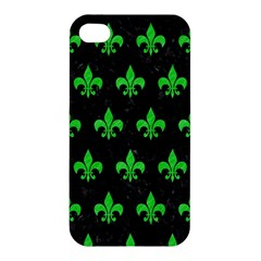 Royal1 Black Marble & Green Colored Pencil (r) Apple Iphone 4/4s Hardshell Case