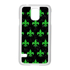 Royal1 Black Marble & Green Colored Pencil (r) Samsung Galaxy S5 Case (white)