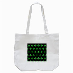 Royal1 Black Marble & Green Colored Pencil (r) Tote Bag (white)