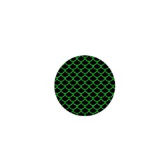 Scales1 Black Marble & Green Colored Pencil 1  Mini Magnets