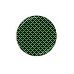 Scales1 Black Marble & Green Colored Pencil Hat Clip Ball Marker (4 Pack)