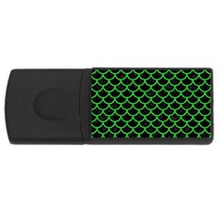 Scales1 Black Marble & Green Colored Pencil Rectangular Usb Flash Drive