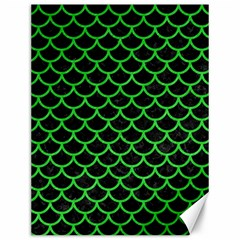 Scales1 Black Marble & Green Colored Pencil Canvas 12  X 16