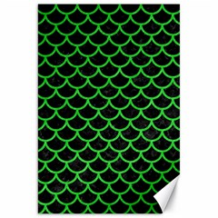 Scales1 Black Marble & Green Colored Pencil Canvas 20  X 30