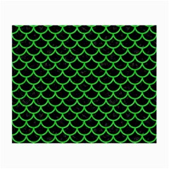Scales1 Black Marble & Green Colored Pencil Small Glasses Cloth (2 Side)