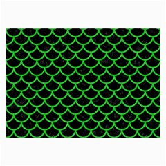 Scales1 Black Marble & Green Colored Pencil Large Glasses Cloth (2 Side)