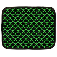 Scales1 Black Marble & Green Colored Pencil Netbook Case (xl)