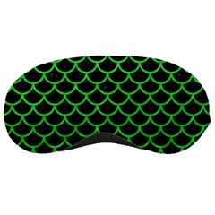 Scales1 Black Marble & Green Colored Pencil Sleeping Masks