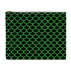 Scales1 Black Marble & Green Colored Pencil Cosmetic Bag (xl)