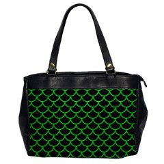 Scales1 Black Marble & Green Colored Pencil Office Handbags