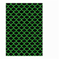 Scales1 Black Marble & Green Colored Pencil Small Garden Flag (two Sides)