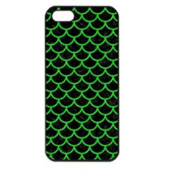 Scales1 Black Marble & Green Colored Pencil Apple Iphone 5 Seamless Case (black)