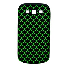Scales1 Black Marble & Green Colored Pencil Samsung Galaxy S Iii Classic Hardshell Case (pc+silicone)