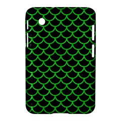Scales1 Black Marble & Green Colored Pencil Samsung Galaxy Tab 2 (7 ) P3100 Hardshell Case
