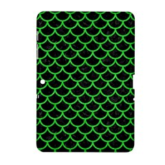 Scales1 Black Marble & Green Colored Pencil Samsung Galaxy Tab 2 (10 1 ) P5100 Hardshell Case