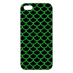 Scales1 Black Marble & Green Colored Pencil Iphone 5s/ Se Premium Hardshell Case