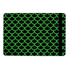Scales1 Black Marble & Green Colored Pencil Samsung Galaxy Tab Pro 10 1  Flip Case