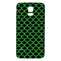Scales1 Black Marble & Green Colored Pencil Samsung Galaxy S5 Back Case (white)