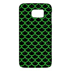 Scales1 Black Marble & Green Colored Pencil Galaxy S6