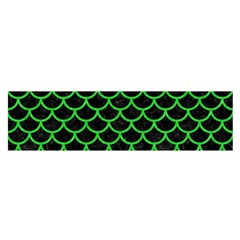 Scales1 Black Marble & Green Colored Pencil Satin Scarf (oblong)