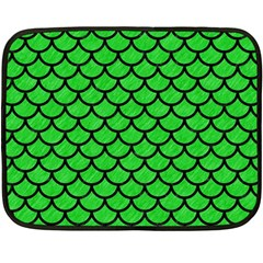 Scales1 Black Marble & Green Colored Pencil (r) Double Sided Fleece Blanket (mini)
