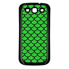 Scales1 Black Marble & Green Colored Pencil (r) Samsung Galaxy S3 Back Case (black)
