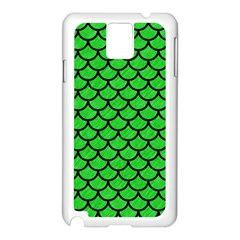 Scales1 Black Marble & Green Colored Pencil (r) Samsung Galaxy Note 3 N9005 Case (white)